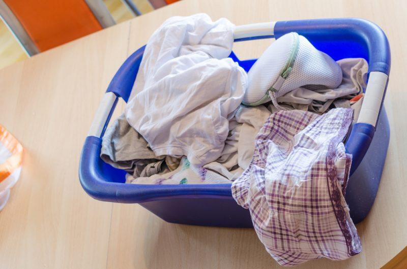Laundry basket with laundry net